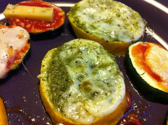 pesto zucchini bites
